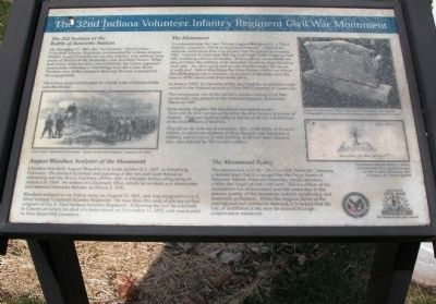 The 32nd Indiana Volunteer Infantry Regiment Civil War Monument Marker Photo, Click for full size