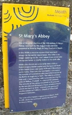 St Mary's Abbey Marker image. Click for full size.