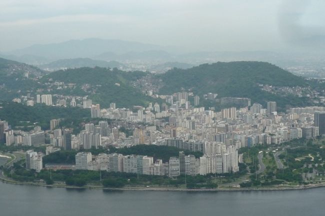 View from near CCAPA marker, northwest toward Flamengo and Centro Rio image. Click for full size.
