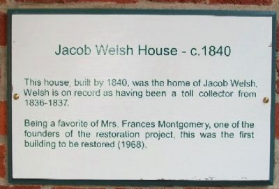 Jacob Welsh House - c.1840 Marker image. Click for full size.