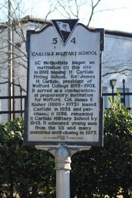 Carlisle Military School Marker Photo, Click for full size