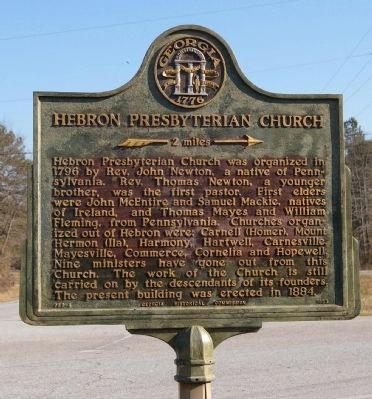 Hebron Presbyterian Church Marker Photo, Click for full size