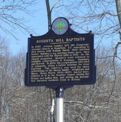 Augusta Hill Baptists Marker image. Click for full size.