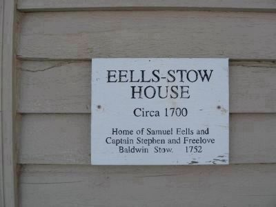 Eells - Stow House Marker image. Click for full size.