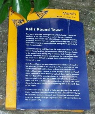 Kells Round Tower Marker image. Click for full size.