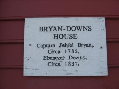 Marker on the Bryan – Downs House image. Click for full size.