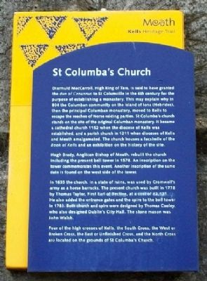 St Columba's Church Marker image. Click for full size.