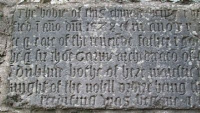 St Columba's Church 1578 Bell Tower Commemorative Inscription 01 image. Click for full size.