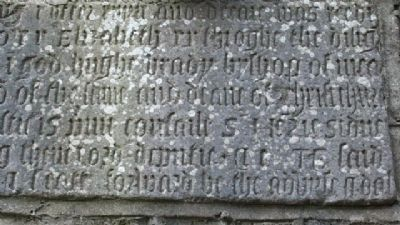 St Columba's Church 1578 Bell Tower Commemorative Inscription 02 image. Click for full size.