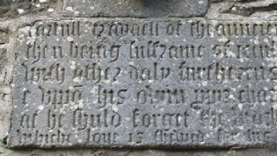 St Columba's Church 1578 Bell Tower Commemorative Inscription 03 image. Click for full size.