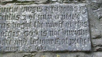 St Columba's Church 1578 Bell Tower Commemorative Inscription 04 image. Click for full size.