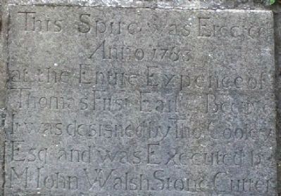 St Columba's Church 1783 Bell Tower Spire Commemorative Inscription image. Click for full size.