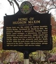 Home of Hudson Maxim Marker image. Click for full size.