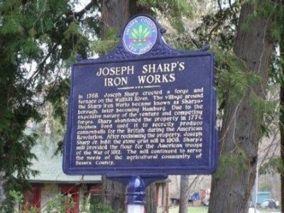 Joseph Sharp's Iron Works Marker Photo, Click for full size
