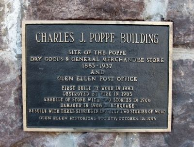 Charles J. Poppe Building Marker Photo, Click for full size