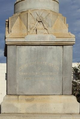 Orangeburg Confederate Monument, North face image. Click for full size.