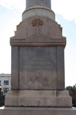 Orangeburg Confederate Monument , East face image. Click for full size.