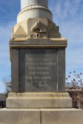 Orangeburg Confederate Monument , South face image. Click for full size.