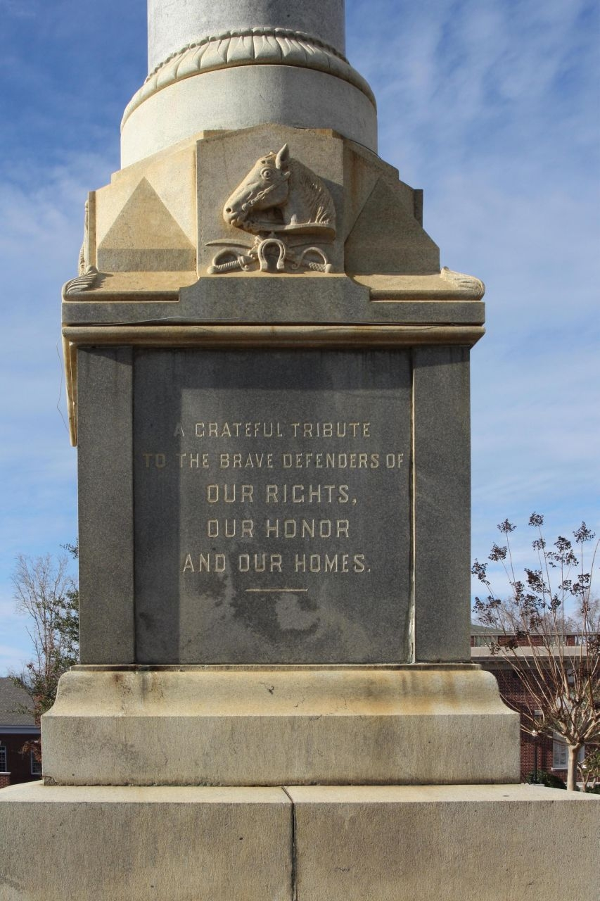 Orangeburg Confederate Monument , South face