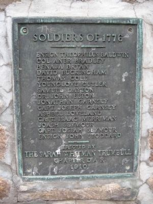 Soldiers of 1776 Memorial Marker image. Click for full size.