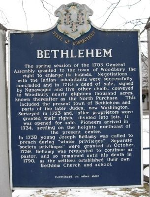 Bethlehem Marker Photo, Click for full size