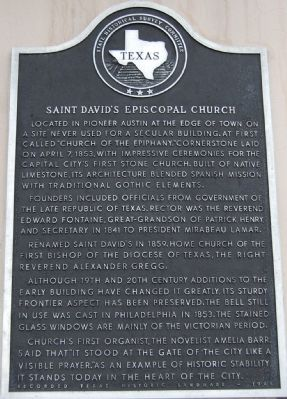 Saint David's Episcopal Church Marker image. Click for full size.
