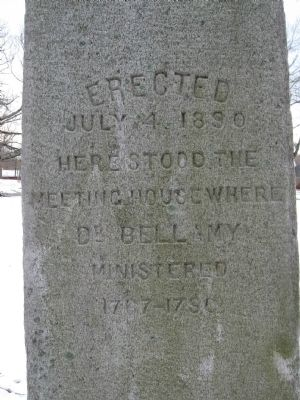 Dr. Bellamy Meetinghouse Marker image. Click for full size.