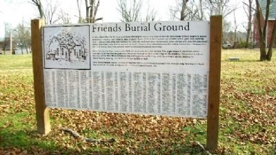 Friends Burial Ground Marker image. Click for full size.