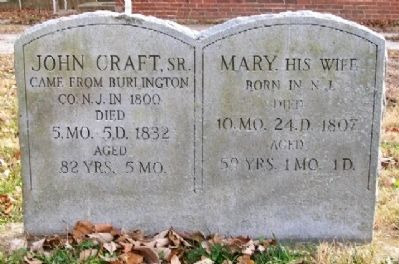 John Craft Grave Marker image. Click for full size.