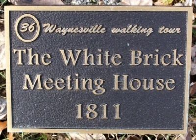 The White Brick Meeting House 1811 Marker image. Click for full size.