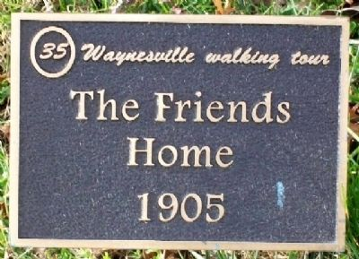 The Friends Home 1905 Marker image. Click for full size.