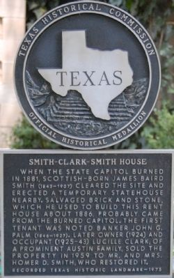 Smith-Clark-Smith House Marker image. Click for full size.