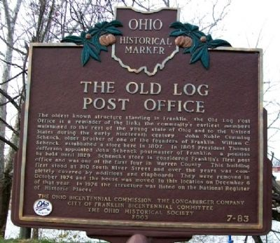 The Old Log Post Office Marker Photo, Click for full size