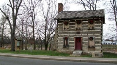 The Old Log Post Office and Marker Photo, Click for full size