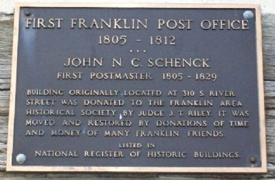 First Franklin Post Office 1805-1812 Marker Photo, Click for full size