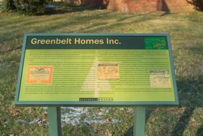 Greenbelt Homes Inc. Marker image. Click for full size.