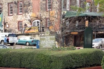 William Bartram Trail Marker, along River Street in Savannah Photo, Click for full size