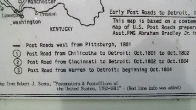 Postal Route Map on Marker image. Click for full size.