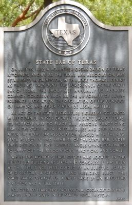 State Bar of Texas Marker image. Click for full size.
