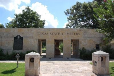 State Cemetery of Texas and Marker image. Click for full size.