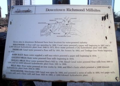 Downtown Richmond Millsites Marker image. Click for full size.