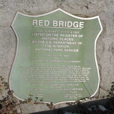 Red Bridge Marker image. Click for full size.