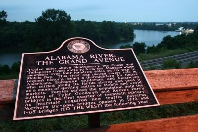Alabama River: The Grand Avenue Marker image. Click for full size.