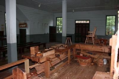 Inside view of Alabama's Constitution Hall (Cabinetmaker's shop) image. Click for full size.