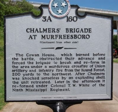 Chalmers' Brigade at Murfreesboro Marker image. Click for full size.
