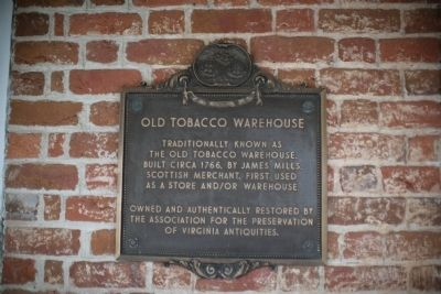 Old Tobacco Warehouse Marker image. Click for full size.