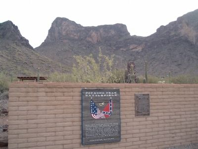 Battle at Picacho Marker Photo, Click for full size