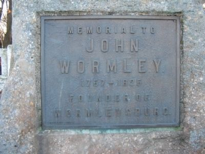 John Wormley Memorial image. Click for full size.