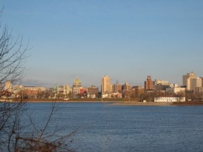 Susquehanna River and Harrisburg image. Click for full size.