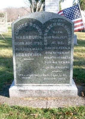 Rev. Ebenezer Washburn Grave Marker image. Click for full size.
